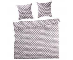 Ropa de cama en linón Triángulo (240x220, gris)