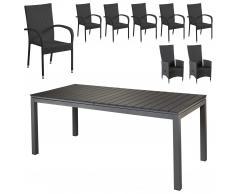 Set de jardín «Las Vegas XXL/Rio Grande/Palermo» (2 sillones confort, 6 sillas)