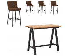 Mesa bar San Diego (71x128, 4 sillas)