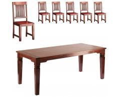 Set Cuba (mesa grande + 6 sillas)