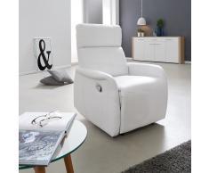 Sillón reclinable Risskov (mecánico, color blanco)