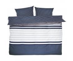 NT of Denmark/Night and Day Ropa de cama renforcé Longo (210x265, beige-negro)