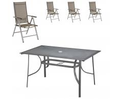 Set de jardín Mexico/New Mexico (4 sillas)