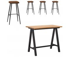 Mesa bar San Diego (71x128, 4 taburetes)