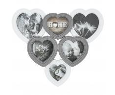 Marco para fotos Corazón (6 fotos, blanco/gris)