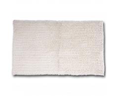 Alfombra de baño chenilla microfibra (65x110, blanco)