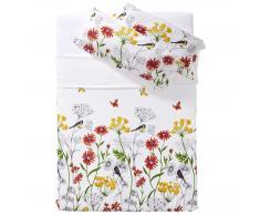 Ropa de cama satén Pájaros (160x265)