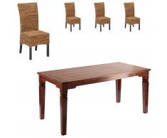 Set Cuba/Rio (mesa pequeña + 4 sillas)