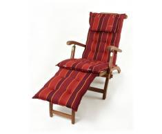 Sun Garden Cojín para silla de cubierta «Sevilla» (rojo)