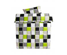 Ropa de cama renforcé Casa (160x265, verde-negro)