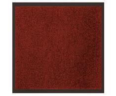 Déco Tapis - 1740297, Tapete Atrapapolvo Rectangul , 60 X 80 Cm , Uni , Alfombra De Entrada , Rojo
