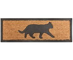 Esschert de diseño rb170 de goma y fibra de coco Felpudo gato