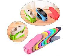 Hunpta - Organizador de zapatos, expositor de plástico, para ahorrar espacio de almacenamiento (1 unidad)