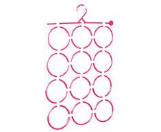Demarket 2x Gancho plegable Con 12 anillos-Rosado