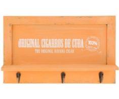 Llavero de madera nostálgica – Perchero con 3 ganchos – Tabla con bandeja – estantes o teléfono móvil de – Colgador de llaves
