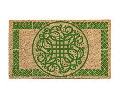 Evergreen Bienvenido celta alfombrilla de fibra de coco, 16 x 28 pulgadas