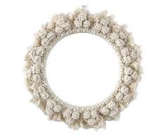 Espejo redondo para colgar en la pared con macrame Boho Art Decor Espejos hechos a mano con cuerda de algodón tejida para montar en la sala de estar del apartamento