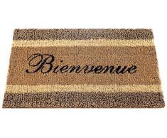 ID mate 457522 Natte Triple alfombra Felpudo fibra coco Beige 75 x 45 x 2,20 cm