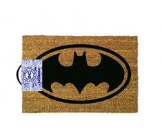 OOTB Alfombra para Puerta, Batman, Poliéster, Marrón, 60 x 40