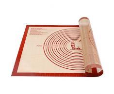 Tapete de Silicona Extra Grande para pastelería con Medidas 71×51 cm, Tapetes para amasar y hornear, Tapete para Pasta/Pizza/Torta/Pastel/Galletas/Pan/Fondant, Resistente al calor, sin BPA