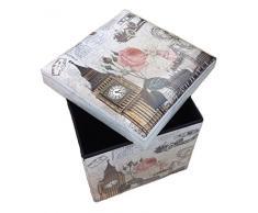 Asiento Banco de Almacenamiento London Original GMMH Caja Cubo de Asiento Plegable