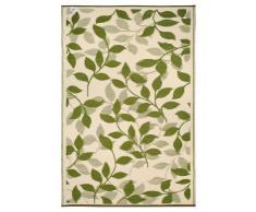 Fab Hab - Bali - Alfombra para Exterior e Interior - Bosque Verde y Crema - (90 cm x 150 cm)