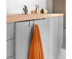 Metaltex Oasis - Gancho doble para armario de baño (revestimiento de polytherm), color plateado