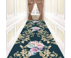MOM Sala de estar Decoración de alfombras Hotel Hall Runner Diseño floral Área de rectángulo Alfombra para pasillo Entrada Casa Oficina Cocina Dormitorio Piso Puerta Alfombrilla Silla Tatami,Los 90x1