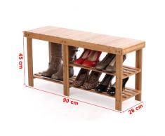Zapateros de madera de comprar online en livingo for Banco zapatero madera