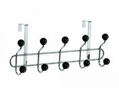 Premier Housewares - Perchero resistente para puerta (10 colgadores de cerámica) , color negro