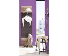 trendteam 1406-440-58 Polo - Panel-guardarropa (roble, 50 x 191 x 28 cm), color marrón