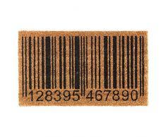 Heavy Duty 100% Fibra de coco Felpudo antideslizante alfombra/Felpudo (40 x 70 cm) – Barras