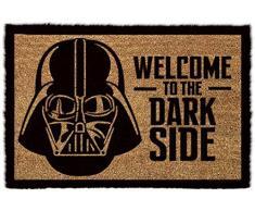 Star Wars GP85033 - Alfombra para puerta La Guerra de las Galaxias Welcome To The Dark Side, color multicolor