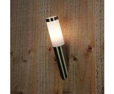 Ranex Classico - Aplique de aluminio y cristal, color negro [Clase de eficiencia energética D], eléctrica, eléctrica con cable