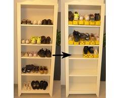 Home/CO – Rack de zapato Gagnez dos veces más de espacio de ahorro de espacio, estante de zapato, ordonné el todo, ajustable, se soporte permite de empiler vos zapatos en tu armario, armario, Dressing, estante de zapato,