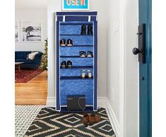 IKAYAA Armario de almacenamiento para zapatos de 7 niveles
