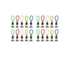 com-four® 20x Clips para Porta Toallas de plástico y Metal Cromado, Clips Coloridos como Ganchos para Toallas, Ganchos para Colgar Toallas, agarraderas, paños de Cocina (20 Piezas)