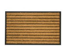 William Armes 2484002 - Felpudo de fibra de coco natural y goma, 75 x 45 cm