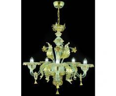 Diseño de lámpara de araña de cristal Murano Pegaso hecha a mano classic dorado
