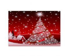 Qlans Tapete de Navidad rojo Alfombra de entrada exterior Alfombra de decoración navideña Alfombra