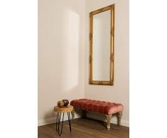 elbmöbel - Espejo de Pared Estilo Antiguo Barroco con Borde Biselado - XL ankleid Espejo Espejo de Cuerpo Entero Perchero Espejo Marco de Madera, Color: Oro, tamaño: 150 x 60 cm