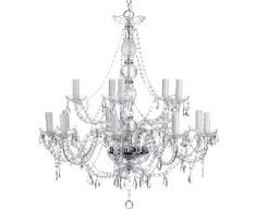 Kare 60536 Gioiello Kristall - Lámpara de techo de araña con cristales (14 brazos)
