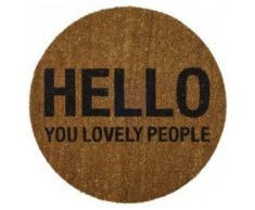 Redondo Hello usted Lovely Personas 70 cm felpudo de fibra de coco