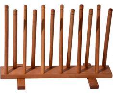 dobar 29781e Botas Soporte de madera, soporte para zapatos Estante, 6 pares/Goma/ - Botas de equitación, 69 x 31 x 48 cm, color marrón