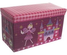 Bieco 04000499 – Caja de almacenamiento y banco Princesa, aprox. 60 x 30 x 35 cm