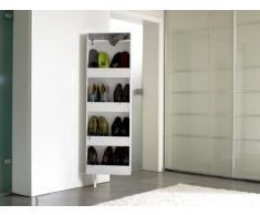 Zapatos de Bert 500 Diseño 192 Blanco zapatero multiusos Armario giratorio bambú