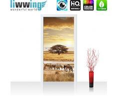 Liwwing - Tapete fotográfico autoadhesivo 100 x 211 cm - cima! prima mural plus puerta! paneles de las puertas