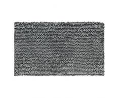 InterDesign Frizz - Tapete de microfibra, 76 x 51 cm, color gris oscuro