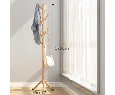 YYHSND Bamboo Coat Rack Floor Y Shoe Rack Hanger Dormitorio Combinación Sencillo Zapato de casa Banco Colgador de Sala de Estar 80 * 31 * 170 cm Perchero