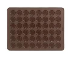 Lékué - Tapete de silicona para hacer macarons en el horno, color marrón